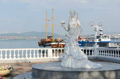 Sculpture White Bride Royalty Free Stock Photography