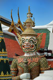 White giant guardian in Bangkok Thailand Stock Image