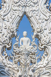 Sculpture of White monk Stock Photography