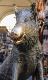 Sculpture of a wild boar Royalty Free Stock Photo