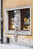 Sculpture on the window Royalty Free Stock Photo