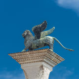 Sculpture of winged  lion of Venice at Doge Palace, Venice, Ital Stock Photo