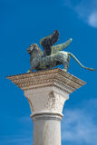 Sculpture of winged  lion of Venice at Doge Palace, Venice, Ital Stock Images