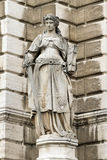 Sculpture of a woman with a book and a sword in Vienna Stock Photos