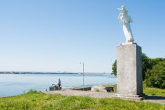 Sculpture of the woman with the child, Baltysk Royalty Free Stock Photo
