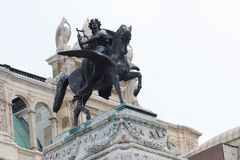 Sculpture of a woman with a harp on Pegasus in Vienna, Austria Stock Image