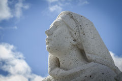 sculpture of a woman praying.Cerro de los Angeles is located in Stock Photos