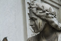 Sculpture of a woman's face Stock Image