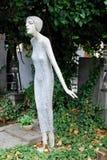 Sculpture of Woman, Vysehrad Cemetery, Prague, Czech Republic Stock Images