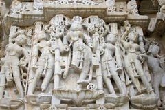 Sculpture of Women. A sculpture of many women from one of the temples at Chittor.  The women are very shapely and are probably for entertainment or spirital Stock Photography
