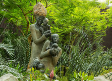 Sculpture of women with babies. Inspired sculpture of the maternity Stock Images