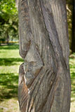 Sculpture in wood. Near Iulia Hasdeu castle,Campina,Romania Royalty Free Stock Images