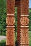 sculpture in wood stock photos
