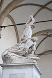 Sculpture work. This sculpture is the work of a Flemish artist Jean de Boulogne known as The Rape of the Sabine Women. This marble and bronze group has been Royalty Free Stock Image