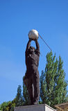 Sculpture `Worker With The Artificial Satellite Of The Earth`. Samara Stock Photo