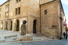 Sculpture of the writer Antonio Machado Stock Photography