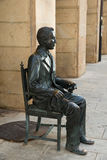 Sculpture of the writer Antonio Machado Royalty Free Stock Photos
