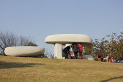 The sculpture in Wuhu sculpture park(anhui) Stock Photography
