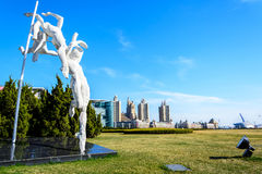Sculpture at Xinghai square Royalty Free Stock Images