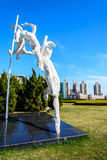 Sculpture at Xinghai square Royalty Free Stock Image