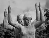 Sculpture - Young couple doing gymnastics, The Vigelands Park Stock Photos
