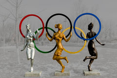 Sculpture - youth dance. Royalty Free Stock Photography