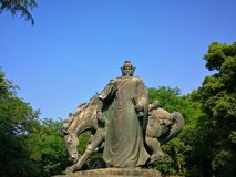 The sculpture of yue fei Stock Photos