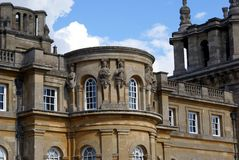 Sculptured facade of Blenheim Palace in Woodstock, England Royalty Free Stock Photo