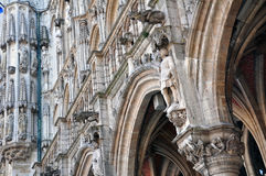 Sculptured facade of Town Hall, Brussels