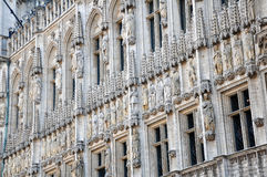 Sculptured facade of Town Hall, Brussels Royalty Free Stock Photo