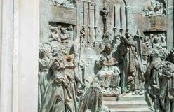 Sculptured relief monument of Empress Josephine in La Savane Park, Martinique Stock Image