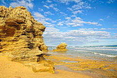 Sculptured rocks - Point Lonsdale Stock Photography