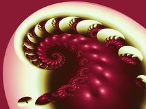 Sculptured Spiral. This is a fractal image made in Ultrafractal Stock Photo
