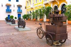 Sculptures à Carthagène, Colombie photo libre de droits