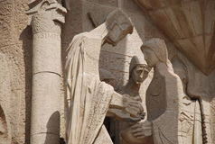 Sculptures. Scultpures of sagrada familia, barcelona royalty free stock photography