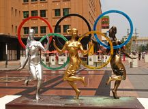 Sculptures 2008 olympiques en ville d'été de Pékin Photographie stock