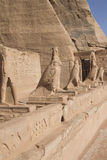 Sculptures in Abu Simbel Temple (Egypt) Stock Image