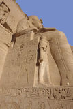 Sculptures at Abu Simbel temples in Egypt Stock Photos