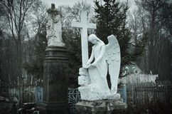 Sculptures. All Saints Cemetery (Tula). Date of foundation 1772 Stock Photo