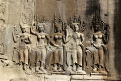 Sculptures at Angkor Wat Stock Photos