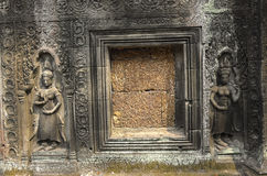 Sculptures at Angkor Wat Royalty Free Stock Photos