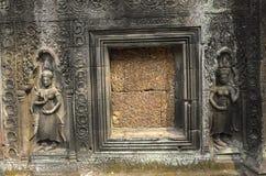 Sculptures at Angkor Wat royalty free stock photos