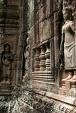 The sculptures in angkor wat of cambodia Royalty Free Stock Photos