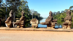 Sculptures at Angkor Wat Stock Photography