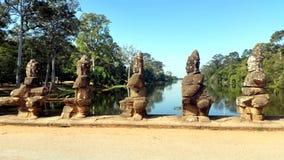 Sculptures at Angkor Wat Royalty Free Stock Photography