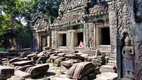 Sculptures at Angkor Wat Stock Photos