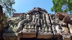 Sculptures at Angkor Wat Royalty Free Stock Images