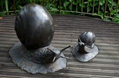 Sculptures animales en métal à l'aire de loisirs de réserve forestière de Zhiben, Taïwan Image libre de droits