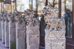 Sculptures animales japonaises, statue de lion-chien photo stock