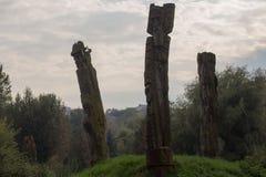 Sculptures antiques des idoles photographie stock libre de droits
